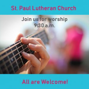 Worship Online Only @ St. Paul Lutheran Church